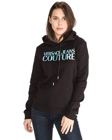 Čierna mikina s kapucňou Versace Jeans Couture