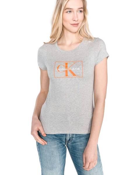 Sivé tričko Calvin Klein