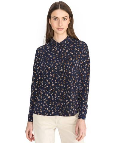 Modrá košeľa Vero Moda
