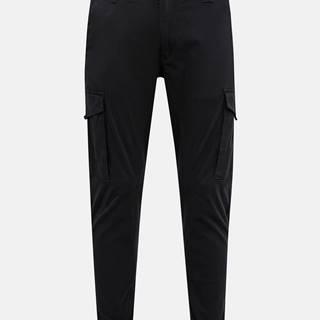 Čierne tapered fit nohavice Jack & Jones Paul