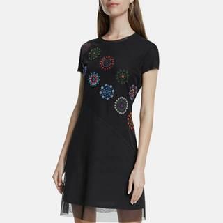 Desigual  Čierne vzorované šaty Desigual