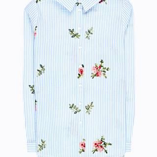 Prúžkovaná košeľa s výšivkou