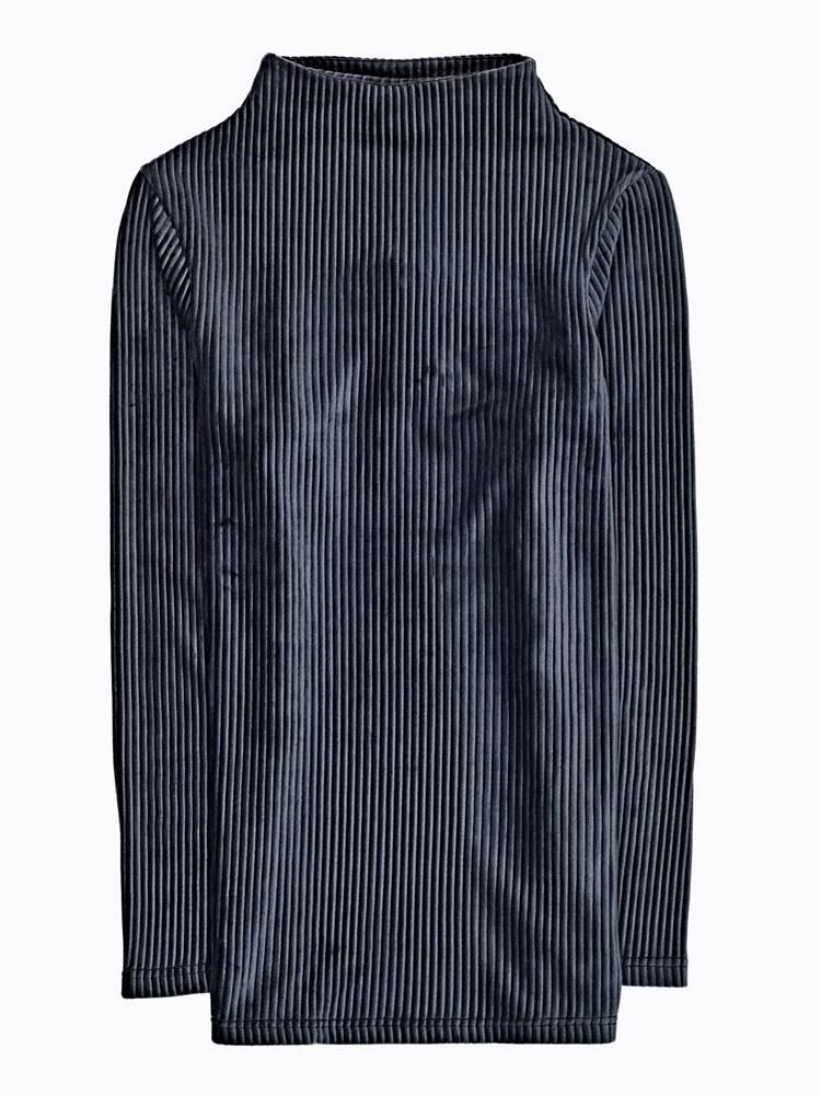 Zamatový pulover s vysokým ...