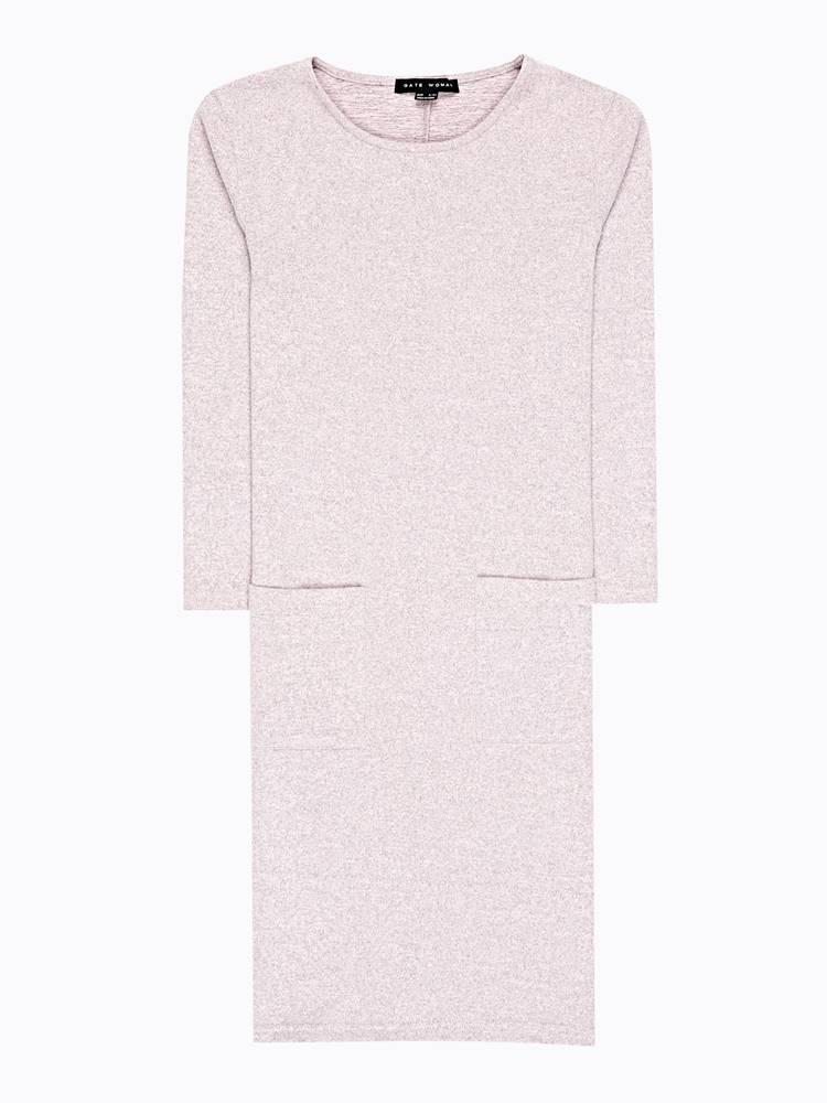 Úpletové šaty s vreckami