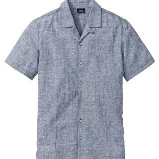 Košeľa, plátený mix s krátkymi rukávmi