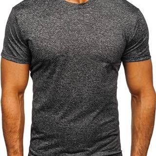 Tmavografitové pánske tričko bez potlače