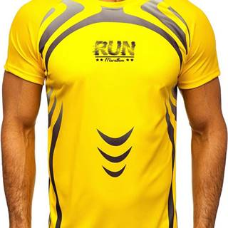 Žlté pánske tričko s potlačou