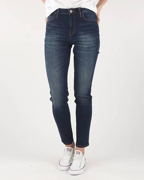 Modré skinny nohavice Lee