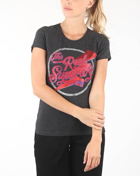 Čierne tričko Superdry