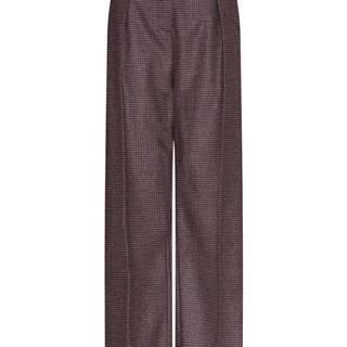 Dámske široké nohavice  hnedá