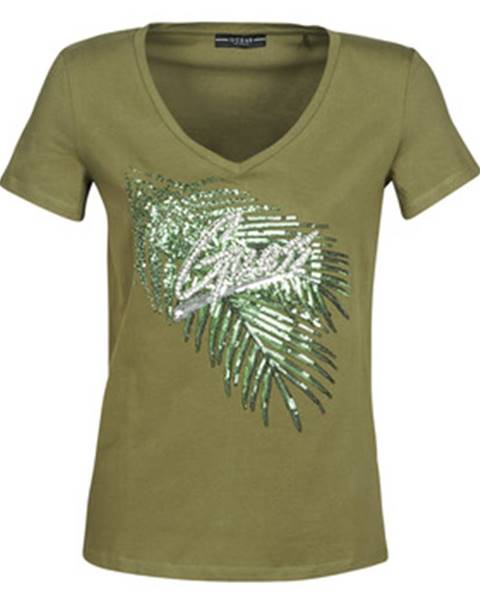 Zelené tričko Guess