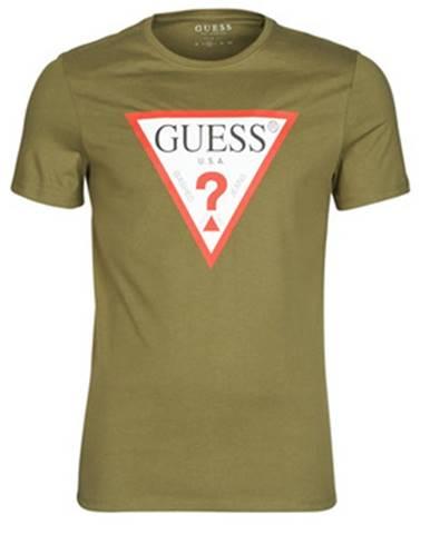 Kaki tričko Guess