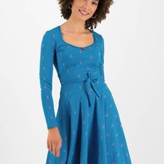 Modré bodkované šaty Blutsgeschwister Ode to the woods