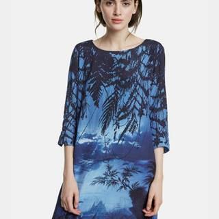 Tmavomodré vzorované šaty Desigual Bruna