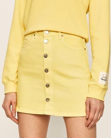 Béžová sukňa Pepe jeans
