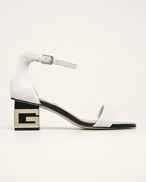 Biele sandále Guess Jeans