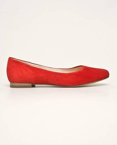 Červené balerínky Caprice