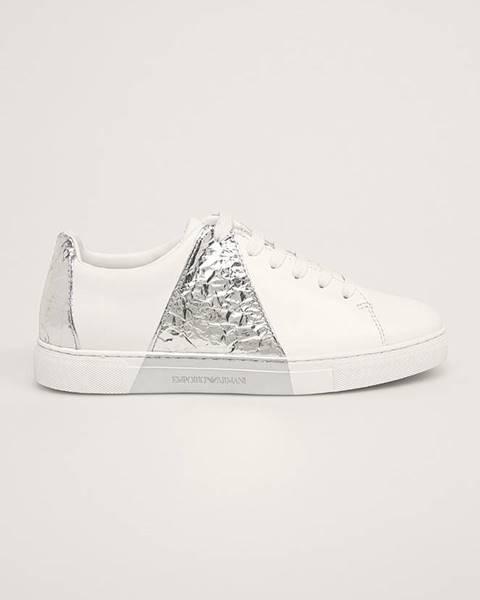 Biele topánky Emporio Armani