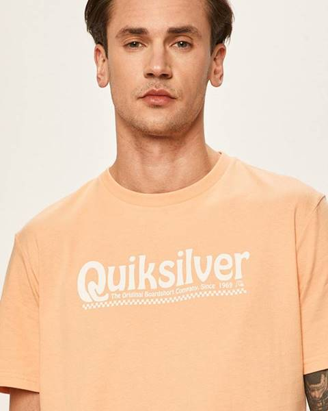 Oranžové tričko Quiksilver