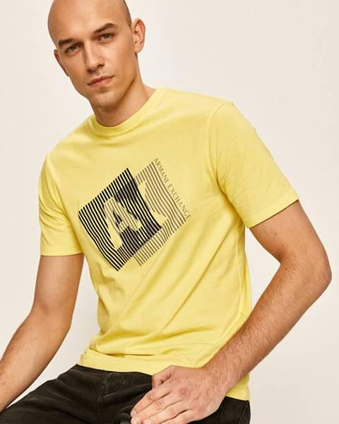 Žlté tričko Armani Exchange