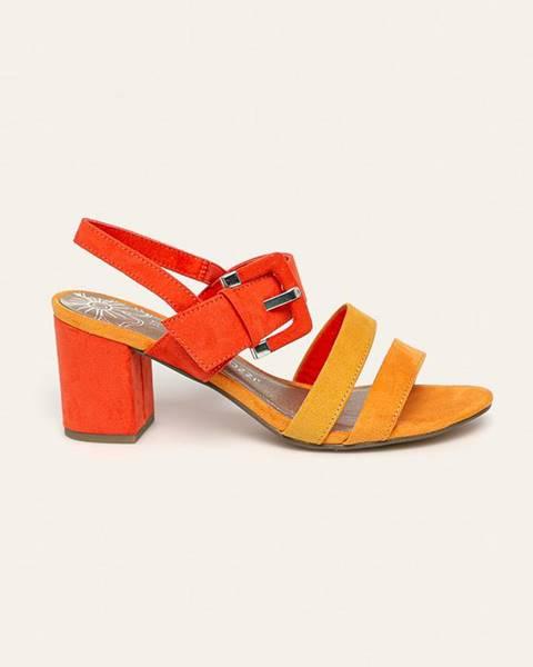 Oranžové lodičky Marco Tozzi