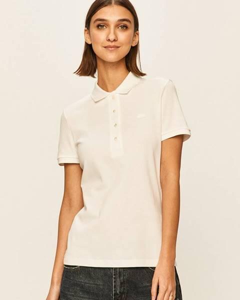 Biele tričko Lacoste