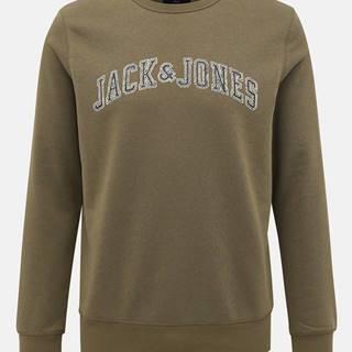 Kaki mikina Jack & Jones Premium Alex