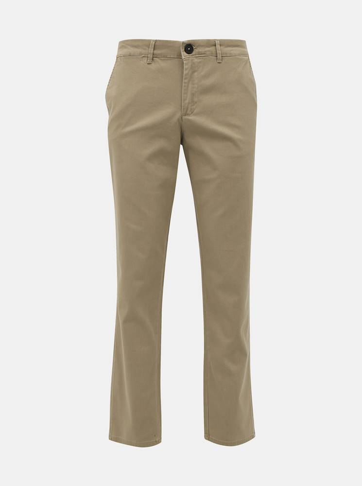 Selected Homme Béžové slim fit chino nohavice Selected Homme Yard