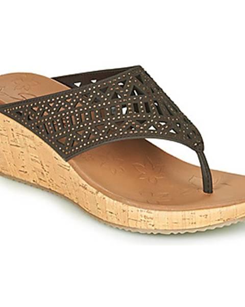 Hnedé sandále Skechers