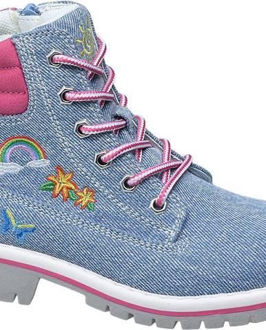 Modré členková obuv Graceland