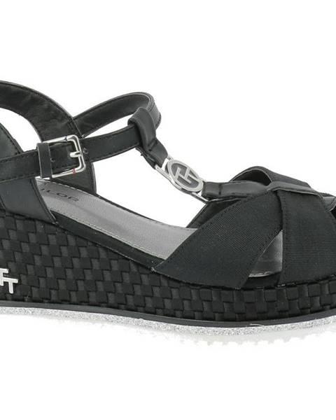 Čierne sandále Tom Tailor
