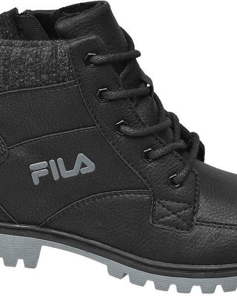 Čierne členková obuv Fila