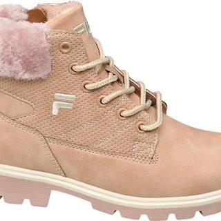 Fila - Ružová členková obuv na zips Fila