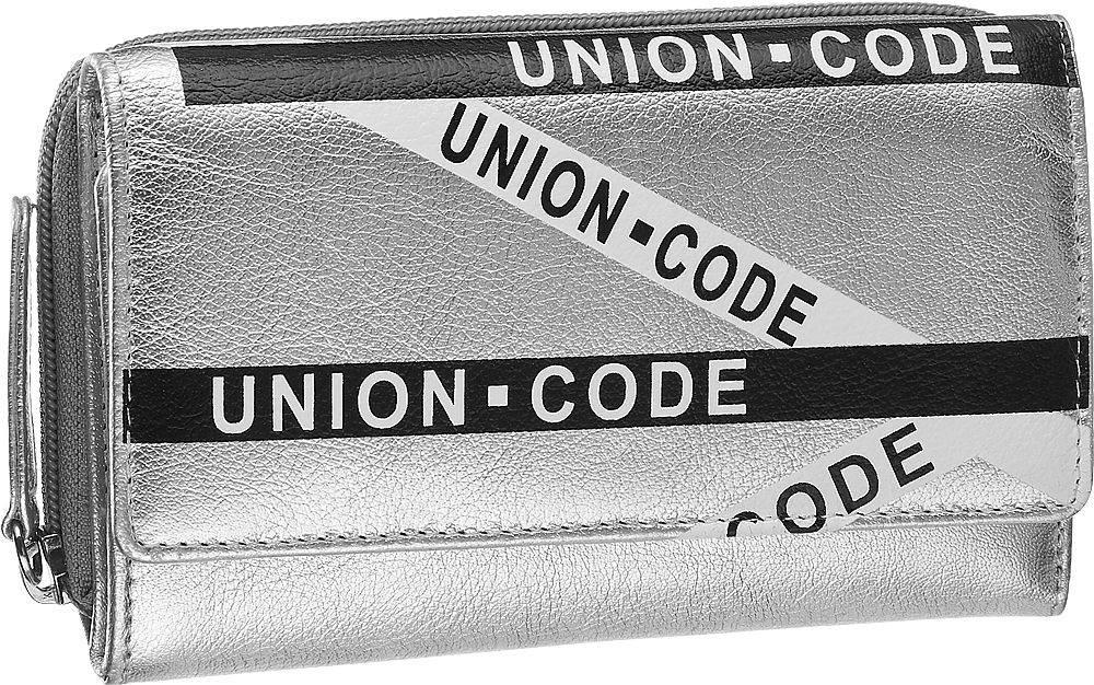 Union Code Union Code - Strieborná kožená dámska peňaženka Union Code