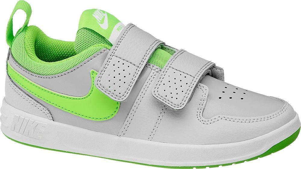 Nike NIKE - Sivé tenisky na suchý zips Nike Pico 5 Psv