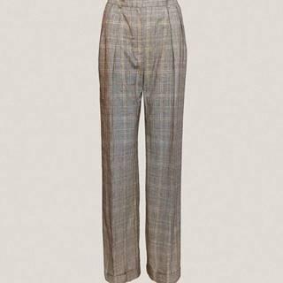 Dámske široké nohavice s manžetou  sivá