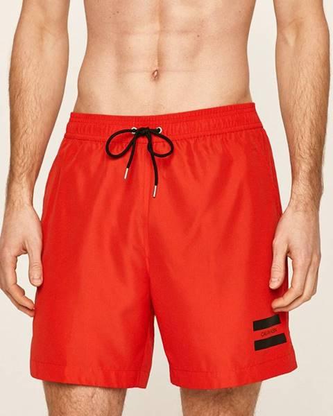 Červené plavky Calvin Klein Jeans