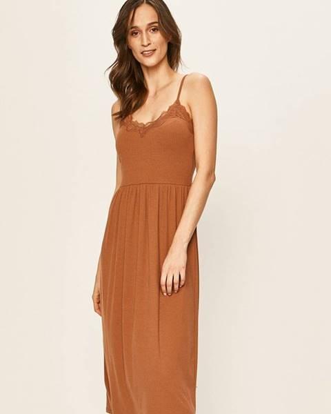 Hnedé šaty Vila