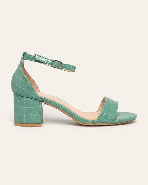 Tyrkysové sandále Answear