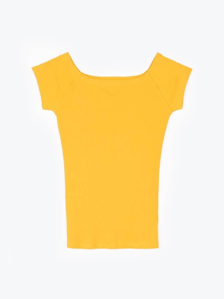 GATE Rebrované tričko s krátkym rukávom