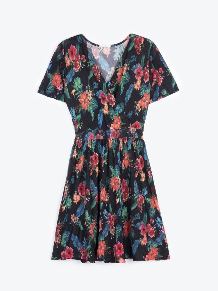 GATE Šaty s kvetinovou potlačou