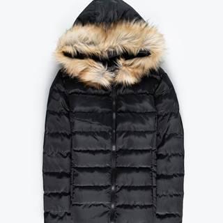 GATE Prešívaná vatovaná bunda s umelou kožušinou