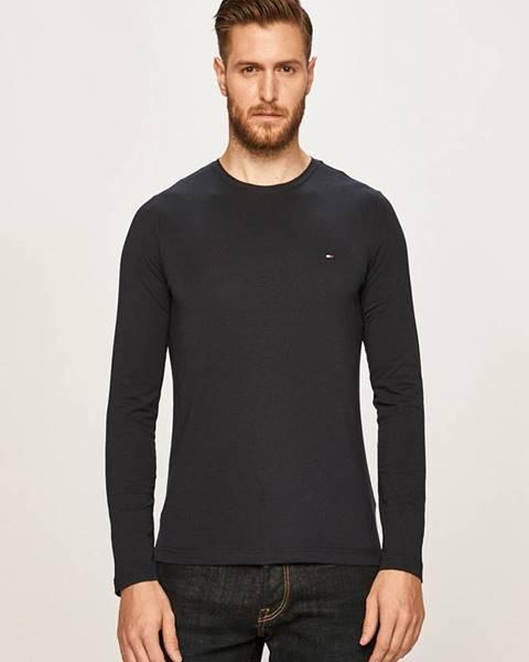 Tmavomodré tričko Tommy Hilfiger