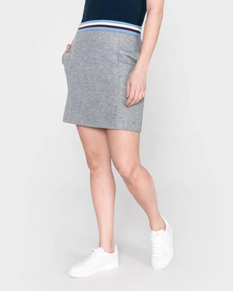 Sivá sukňa Tommy Hilfiger