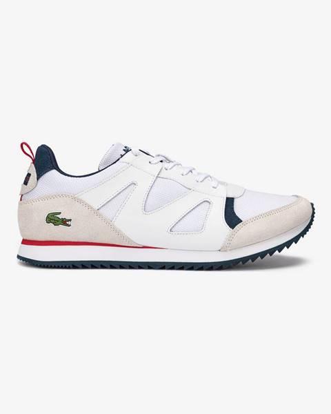 Biele topánky Lacoste