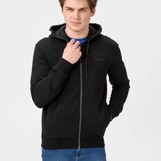 Mikina Trussardi Full Zip Fleece With Hood Pure Cotton Regular Fit Čierna