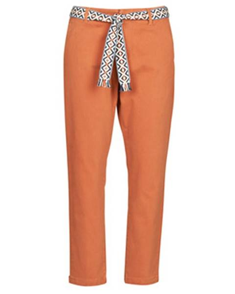 Oranžové chino nohavice Vero Moda