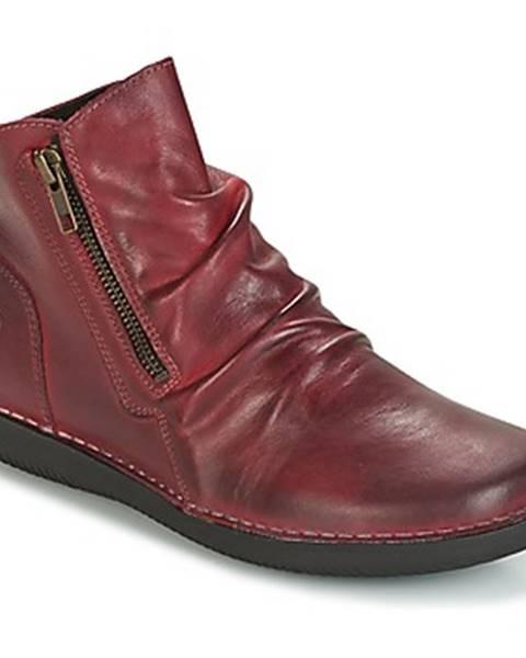 Bordové topánky Casual Attitude