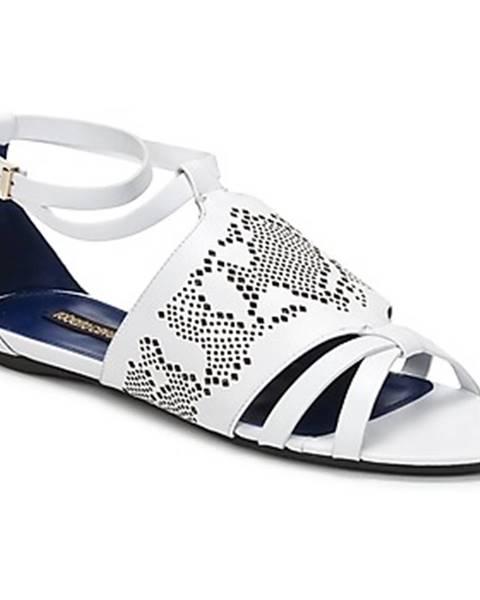 Biele sandále Roberto Cavalli