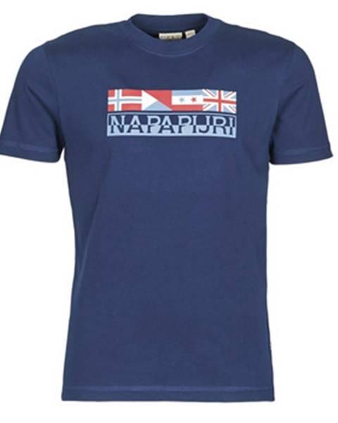 Modré tričko Napapijri